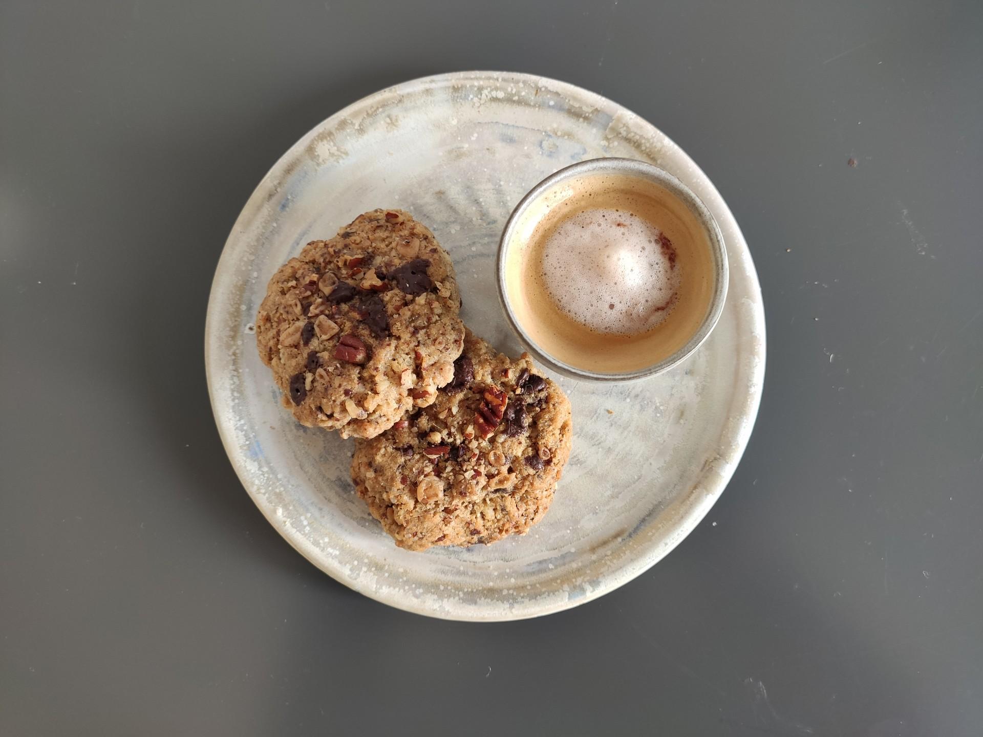 Pekanuss -Schoko-Cookies