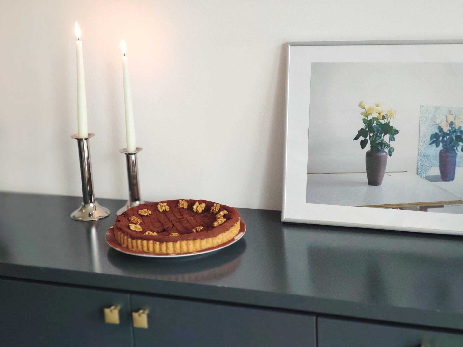 Schokoladen-Walnuss-Tarte